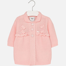 Mayoral Baby Girls Knitted Cardigan, Pink
