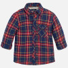 Mayoral Baby Boys Wool Lined Overshirt, Cherry