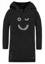 Bellybutton Organic Cotton Knitted Hoodie Dress, Phantom