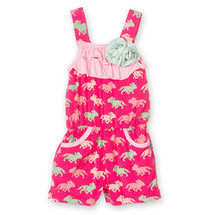 Flower Romper with Pockets, Prickly Pear Desert Fox