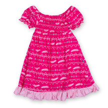 Kickee Pants Gathered Dress, Prickly Pear Southwest