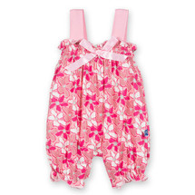 Gathered Romper with Bow, Desert Flower