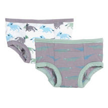Kickee Pants Training Pants Set of 2, Feather Lizard & Natural Desert Fox
