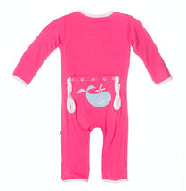 Kickee Pants Fitted Applique Coverall, Winter Tiny Whale