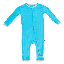 Kickee Pants Solid Fitted Coverall, Confetti with Aloe