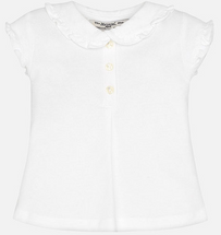 Mayoral Girl short sleeve polo with frill