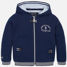 Mayoral Baby boy jacket with fleece hood, Blue