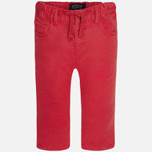 Mayoral Baby boy twill long trousers with drawstrings, Watermelon