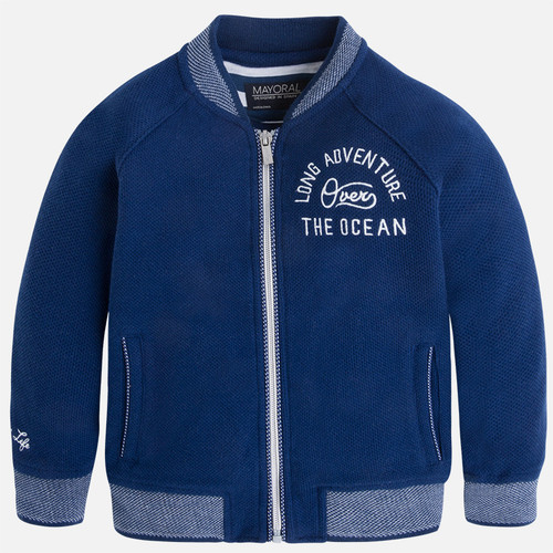 Mayoral Boy jacket with rib knit details, Universe