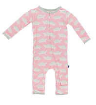 Kickee Pants Print Coverall, Lotus Turtle