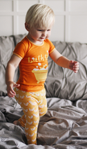 Kickee Pants Print Short Sleeve Pajama Set, Fuzzy Bee Duckies