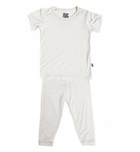 Kickee Pants Basic Short Sleeve Pajama Set, Natural