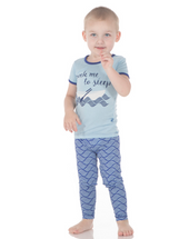Kickee Pants Print Short Sleeve Pajama Set, Kite Water Lattice