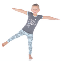 Kickee Pants Print Short Sleeve Pajama Set, Pond Fireflies