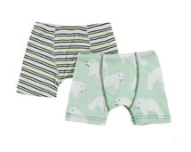 Kickee Pants Boxer Briefs Set of 2, Boy Fresh Water Stripe & Aloe Manatee