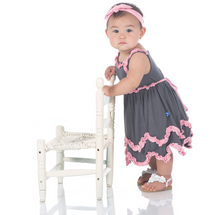 Kickee Pants Solid Ruffle Tank Dress with Bloomer, Stone with Lotus