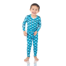 Kickee Pants Print Long Sleeve Pajama Set, River Pigs