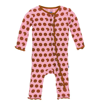 Kickee Pants Print Ruffle Coverall, Lotus Cookies