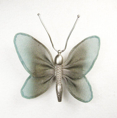 Silver with Olive and Aqua