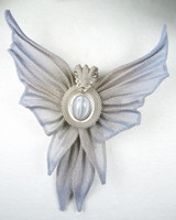 Antique Silver with Quarry and Gray Cat Eye Stone
