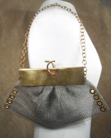 Antique Silver / Antique Brass with Chain in use; unlined