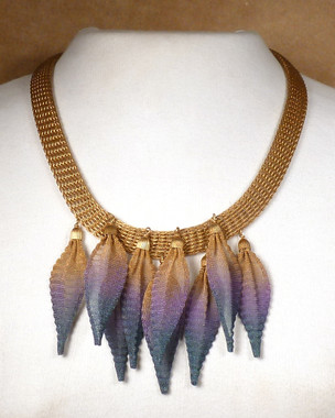 Fabulous Feather Mesh Necklace