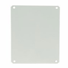 White painted carbon steel back panel for use with Polyline® series enclosures
