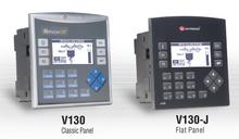 **V130-33-T38 ** - 24VDC, 20 Digital Inputs, 2 shaft-encoder Inputs, 2 Analog/Digital Inputs, 16 Transistor Outputs, 1 built-in RS232/RS485 Port, 1 optional port for serial or Ethernet communication, CANbus and MODBUS