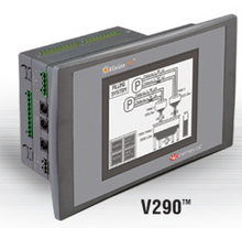 ** V290-19-B20B ** - RS232 port, RS232/RS485 port, Ethernet/additional RS232/RS485 port (optional), MODBUS, CANbus and UniCAN