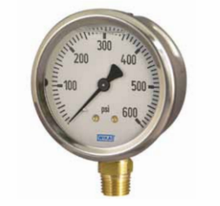 Wika - 2-1/2 or 4 Inch Dial, 1/4 Inch, 0 to 15000 Scale Range Pressure Gauge