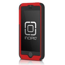 APPLE IPHONE 5 / 5S INCIPIO DUALPRO HARD SHELL CASE WITH SILICONE CORE - CHARCOAL GRAY AND BRIGHT RED