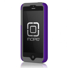 APPLE IPHONE 5 / 5S INCIPIO DUALPRO HARD SHELL CASE WITH SILICONE CORE - INDIGO VIOLET AND CHARCOAL GRAY
