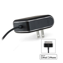 PUREGEAR 1A TRAVEL CHARGER FOR APPLE IPHONE 4 / 4S (5W) - BLACK -