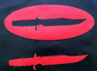 Hunting Knife and Oval