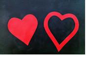 Double Heart Symbol Overlay
