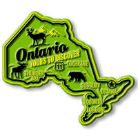 Ontario Premium Map Magnet