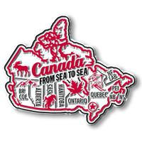 Canada Premium Map Magnet