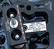 Valve Spring Compressor for Cummins® 12 Valve kit for Hamilton Cams includes the CVSC040 valve spring compressor, steel bridge, 6mm allen wrench, hardened fasteners, an anodized top compressor plate.  Instructions are also included.
