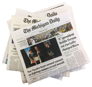Get The Michigan Daily mailed first class daily from September through mid-April, and weekly from May through mid-August.