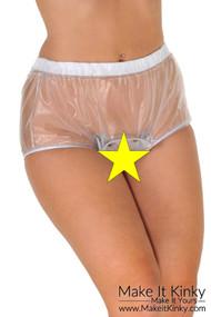 Open crotch popper pants PA25