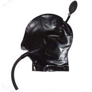 Latex Inflatable Hood Gag & Breath Tube -IN STOCK-