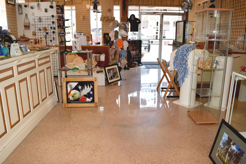 Almond epoxy floor at Veterans Administration Center