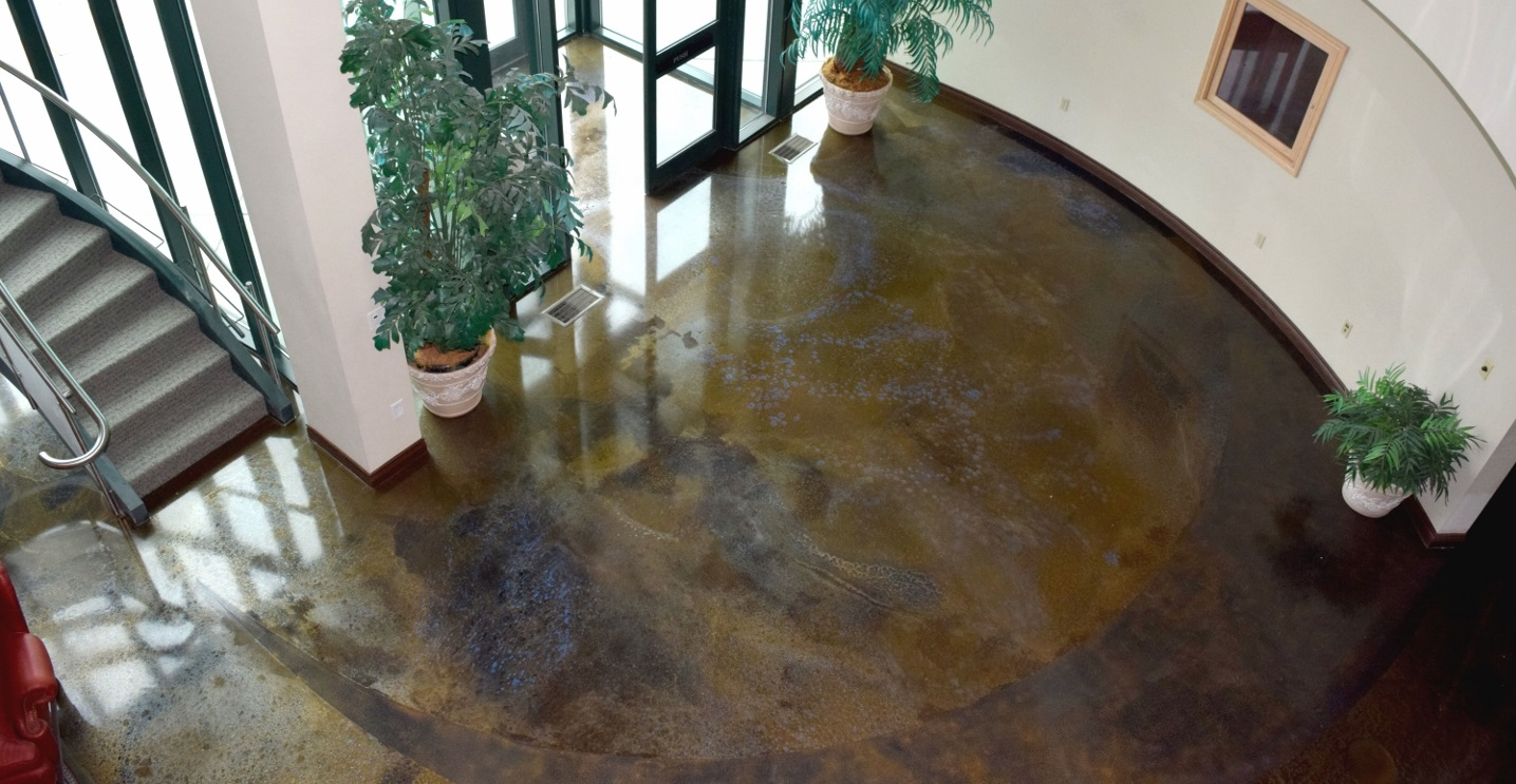 FX Poxy flooring epoxy on finished commercial entry floor