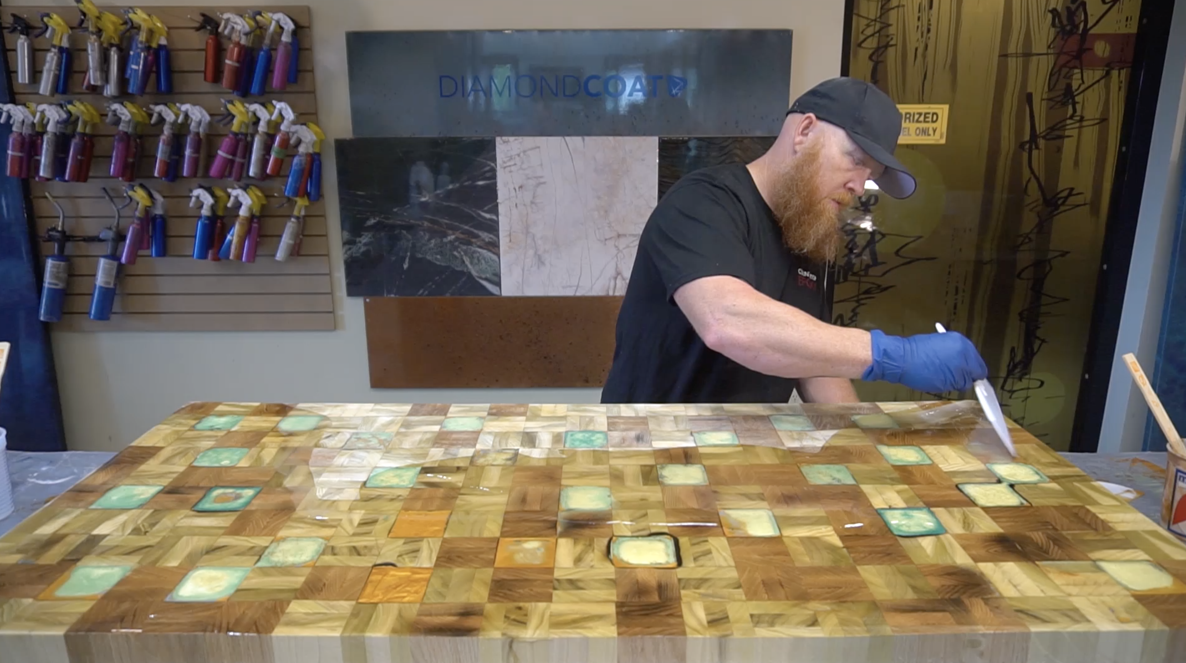 How To Create A Butcher Block Countertop With An Epoxy Coating Counter Top Epoxy