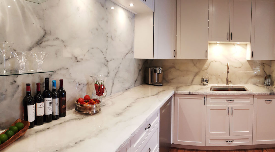 How To Quick Install A Custom Faux Stone Backsplash