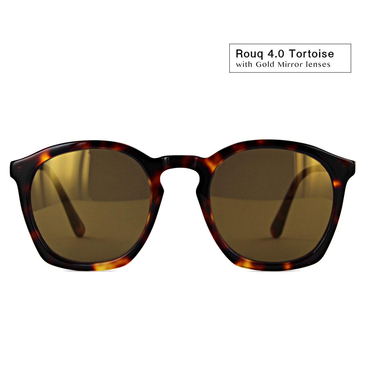 Rouq 4.0 Tortoise with Gold Mirror Lenses