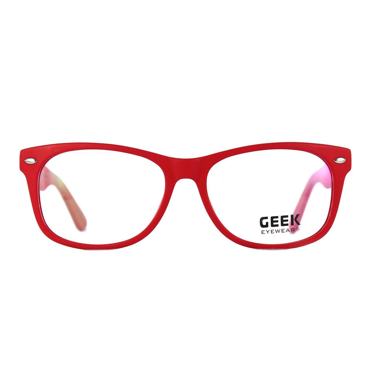 GEEK Eyewear GEEK DJ HOT Red Eyeglasses and Sunglasses