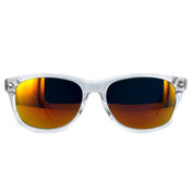 Crystal Clear with Yellow Mirror Lenses
