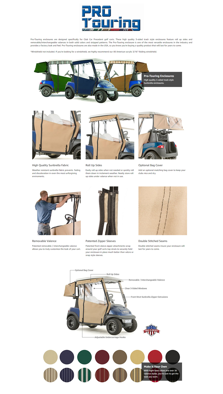 3 Sided Golf Cart Enclosures For Club Car Circuit