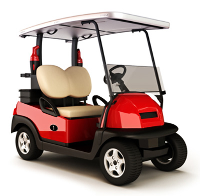 Red-colored-golf-cart